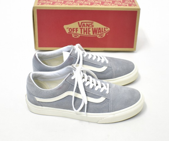 VANS (station wagons) Old Skool (Vintage) Quarry old school vintage quality US9 (27.0cm) GRAY gray SUEDE SNEAKERS suede cloth sneakers SHOES suede