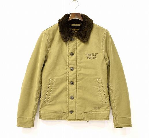 【中古】 WACKO MARIA (ワコマリア) N-1 JKT デッキジャケット S KHAKI DECK JACKET MILITARY FLIGHT ARMY ミリタリー フライト アーミー ボア