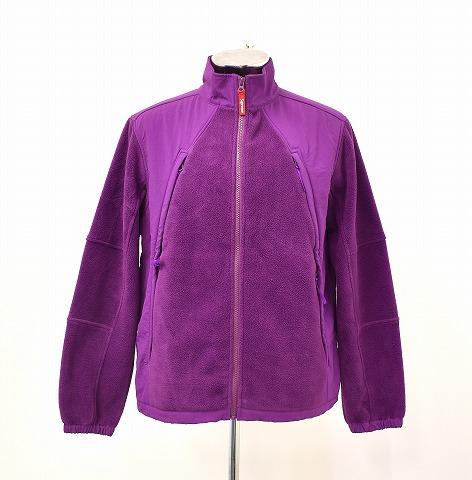 【中古】 SUPREME (シュプリーム) Polartec Zip Up Jacket ポーラテックジップアップジャケット M PURPLE 18AW FLEECE フリース NYLON ナイロン 切り替え