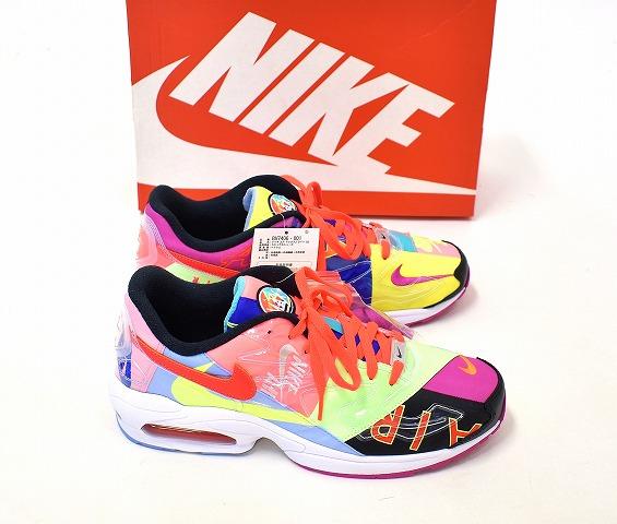 atmos X NIKE (atto MOS X Nike) AIR MAX2 LIGHT QS Air Max 2 light quick strike US11.5 29.5cm BLACK BRIGHT CRIMSON BV7406 001 2019 shoes sneakers