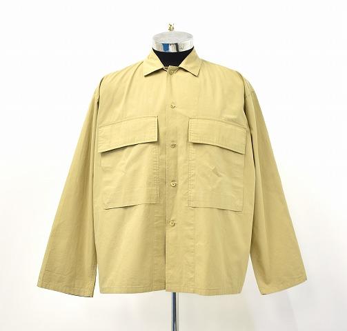 【中古】 Graphpaper (グラフペーパー) STEVENSONS MILITARY SHIRT スティーブンソンズミリタリーシャツ 2 BEIGE 19SS GM191-50022 長袖