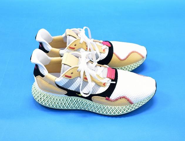 【中古】 adidas Originals by Hender Scheme (アディダスオリジナルス バイ エンダースキーマ) HS ZX 4000 4D ランニングシューズ US10 28cm WHITE 19SS F36048 スニーカー 靴