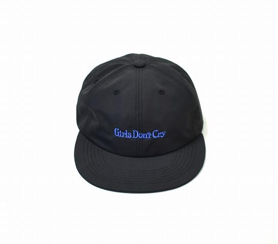 【中古】 Girls Don't Cry (ガールズドントクライ) EMBROIDARY CAP ロゴ刺繍キャップ FREE BLACK 6PANEL 6パネル 帽子