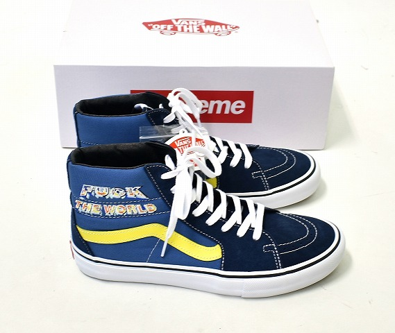 5 Us10 5cm 19aw Higher X WagonsSk8 Supreme 28 Fuck Station Pro World The High Vn0a45jdsy2 Vansシュプリーム Skating Professional Navy Frequency Hi thsrxQdCB