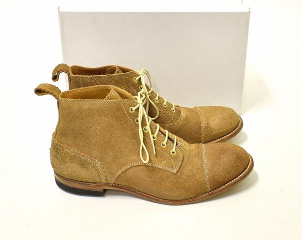 【新品】 Lay The Foundation (レイザファンデーション) Leather Boots レースアップブーツ 8 BEIGE
