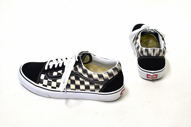 vans old skool blur checkerboard