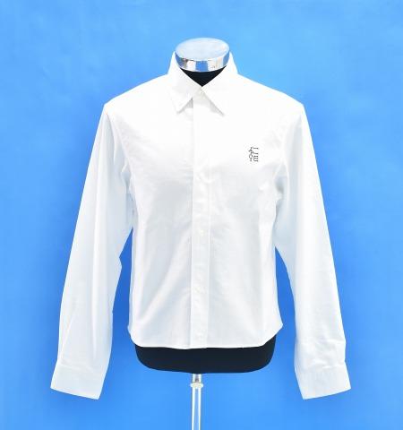 【中古】 FACETASM (ファセッタズム) SHORT LENGTH PLAIN SHIRT ショートレングス プレーンシャツ 長袖シャツ B.D SHIRT ボタンダウンシャツ WHITE 4