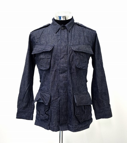 【中古】 BONCOURA (ボンクラ) Fatigue Jacket (Dead Stock Chambray) ファティーグジャケット シャンブレー 36 INDIGO MILITARY ミリタリー ARMY アーミー M-65 DENIM デニム BONCOURA LIMITED