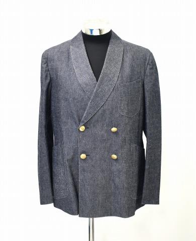 【美中古】 THE FRANKLIN TAILORED (フランクリンテーラード) ショールカラーダブルブレストジャケット 4 BLUE 【中古】