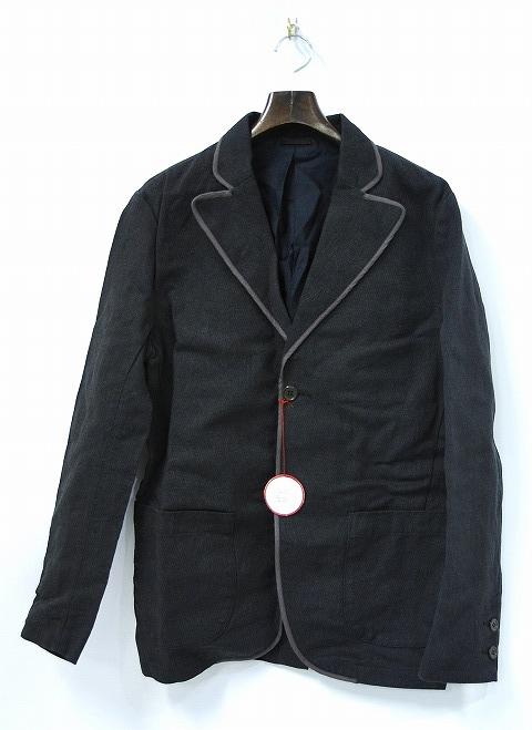【新品】 SPLOTCH of ink (インク)Piping Tailored Jacket テーラードジャケット スクールジャケット BLACK L
