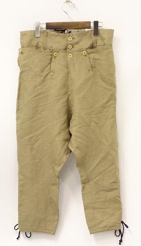 【新品】 LEROY (リロイ) Napoleon Style Sariel Pants BEIGE 1 ナポレオンスタイル サルエル シルク&リネンパンツ ナポレオンパンツ