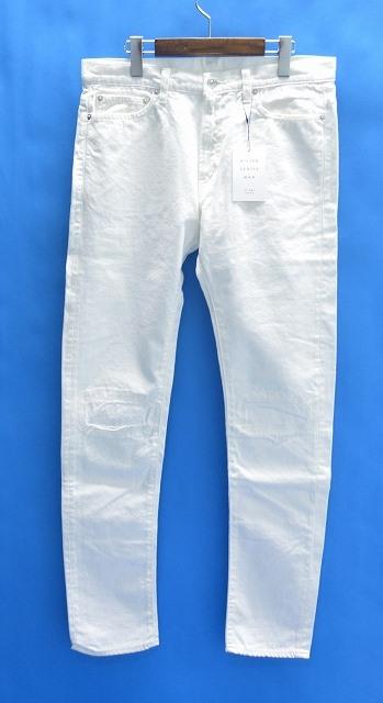 【新品】 Mr. GENTLEMAN (ミスタージェントルマン) CRUSH DENIM PANTS クラッシュデニムパンツ ジーンズ JEANS WHITE 36 MG15F-DE02