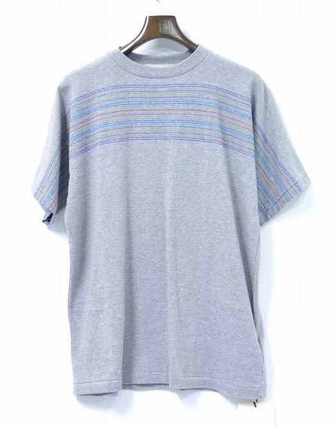 【新品】 salvy; (サヴィー) Tuck Stitch Panel Tee タックステッチパネルTシャツ 半袖T-SHIRT S/S GREY 3