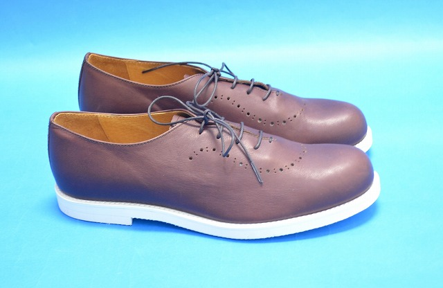 【新品】 ARCOLLETTA PADRONE(アルコレッタパドローネ) BALMORAL SHOES/ BYRON バルモラルシューズ レザーシューズ 革靴 BROWN 42 MADE IN JAPAN