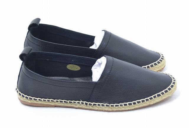 【新品】 Mr.GENTLEMAN(ミスタージェントルマン) ESPADRILLE エスパドリーユ スリッポン 16SS スニーカー シューズ 靴 MGI-AC05 27 BLACK COW LEATHER