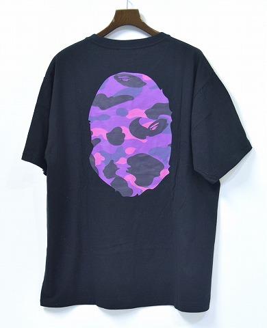 a023c624676a A BATHING APE (アベイシングエイプ) COLOR CAMO BIG APE HEAD TEE カラーカモエイプビッグフェイス T- shirt big head T-shirt short sleeves T-SHIRT BLACK X purple ...