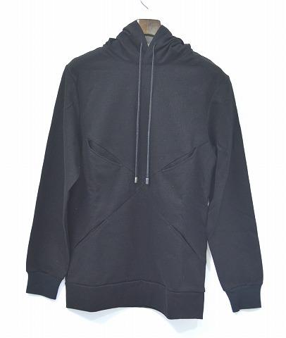 【新品】 CRUCE&Co. (クルーチェ アンド コー) Slashed pockets pullover スラッシュポケットプルオーバー パーカー フーディー HOODY BLACK S