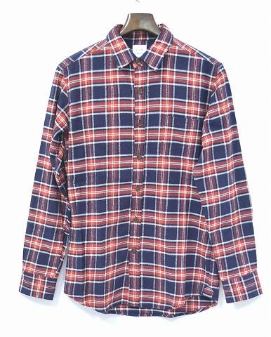 【新品】 Mr.GENTLEMAN (ミスタージェントルマン) FRINGE FLANNEL CHECK SHIRT コンチョボタン ウエスタンフランネルチェックシャツ フリンジ 長袖ネルシャツ RED MGI-SH06 M