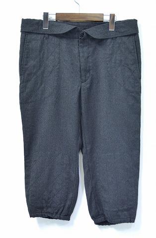 【中古】 ENGINEERED GARMENTS (エンジニアードガーメンツ) Hartford 3/4 Pant - Wool Oxford Suiting ハートフォード 3/4 パンツ ウールオックスフォード Charcoal 34 チャコール NIKKA PANTS ニッカ CROPPED クロップド 7分丈 Knicker Trousers ニッカー トラウザーズ