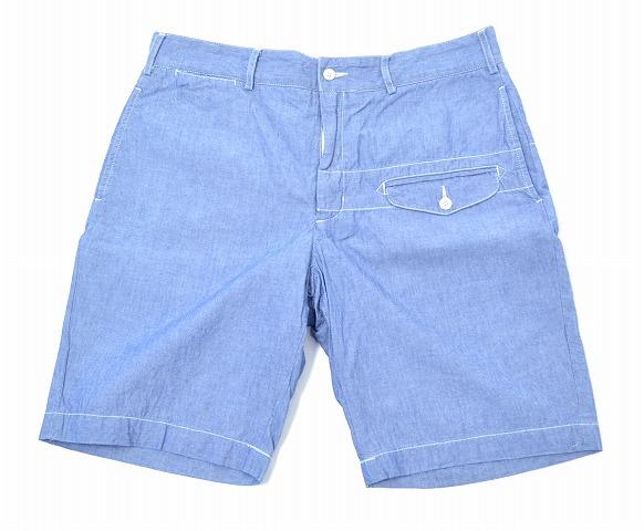 【中古】 ENGINEERED GARMENTS (エンジニアードガーメンツ) Ghurka Short グルカショーツ Blue 34 ブルー Chambray シャンブレー Short Pants ショートパンツ Half ハーフ Shorts Dungaree Cloth ダンガリー