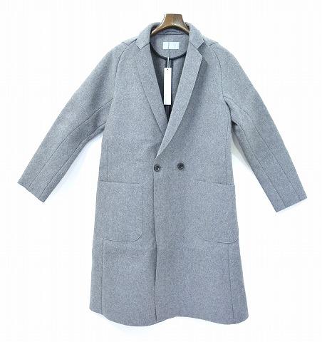 【新品】 juha (ユハ) CUT OFF CHESTER COAT カットオフチェスターコート GREY 2  MADE IN JAPAN