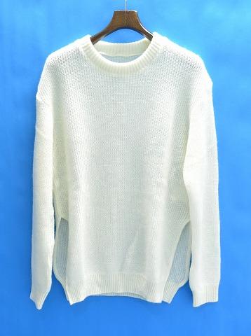【新品】 juha (ユハ) MOHAIR SLIT KNIT モヘアスリットニット クルーネックセーター 2 WHITE 10040501  MADE IN JAPAN