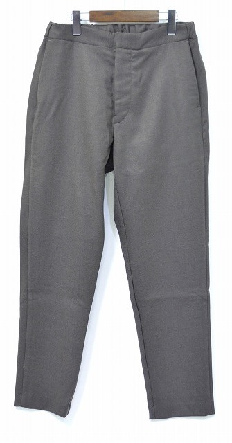 【新品】 salvy; (サヴィー) FINE WOOL DOUBLE CLOTH EASY TROUSERS ファインウールダブルクロスイージートラウザーズ パンツ スラックス MOCHA 3 MADE IN JAPAN SV04-3916C