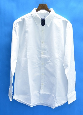 【新品】 Mr.GENTLEMAN (ミスタージェントルマン) TAB SHIRT タブシャツ 長袖シャツ オックスフォード OX MGJ-SH11 WHITE XL MADE IN JAPAN