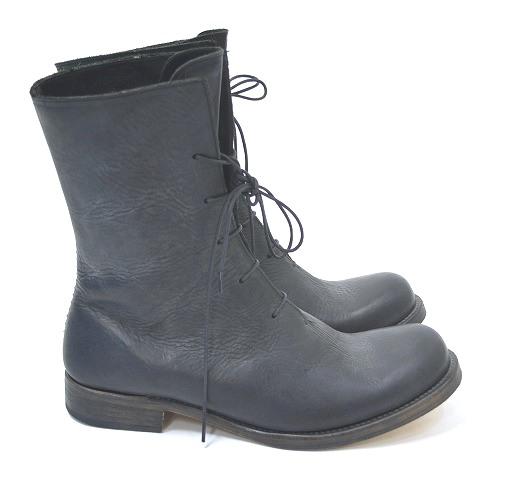 【新品】 Lien (リアン) double shoulder boots ダブルショルダーブーツ 編み上げレザーブーツ レースアップ BLACK 42 (S3D1)
