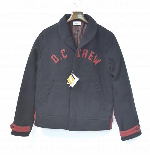 【新品】 O.C CREW (オーシークルー) SHAWL WOOL JACKET ショールカラーウールジャケット BLACK L