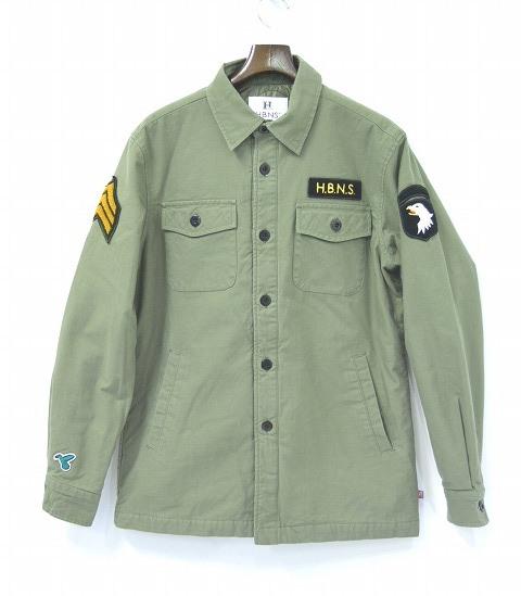 【新品】HABANOS (ハバノス) MILITARY SHIRT JACKET ミリタリー シャツジャケット KHAKI PRIMALOFT XL