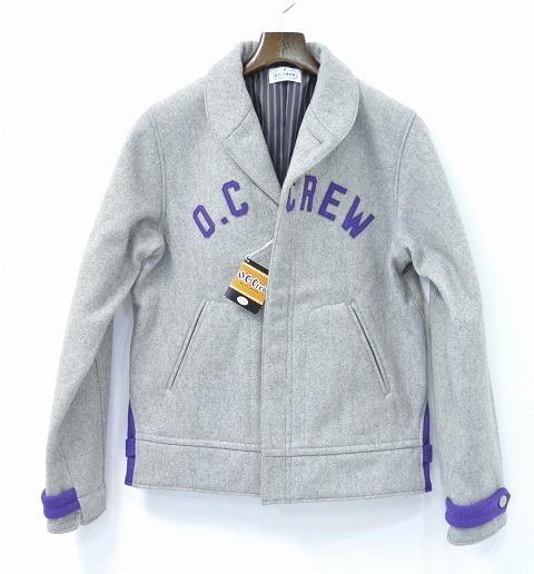 【新品】 O.C CREW (オーシークルー) SHAWL WOOL JACKET ショールカラーウールジャケット GREY M