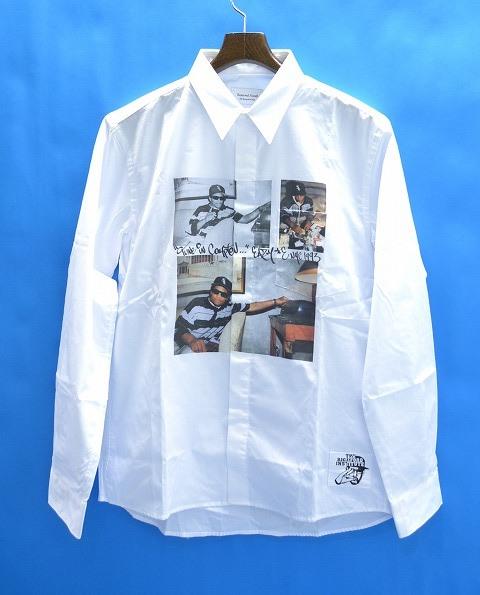 【新品】 The Rickford Institute (ザ リックフォード インスティテュート ) × Reserved Note (リザーブドノート) L/S Printed Shirt Eazy-E 長袖プリントシャツ イージーイー コラボ WHITE L