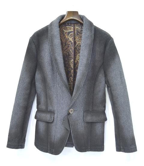 【新品】 CRUCE&Co. (クルーチェ アンド コー) Needle Punch Shawl Collar Jacket ニードルパンチショールカラー1ボタンジャケット BLACK M
