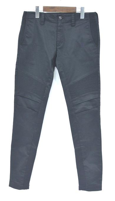 【中古】RYU (リュー) Biker Skinny Pants バイカースキニーパンツ BLACK 3