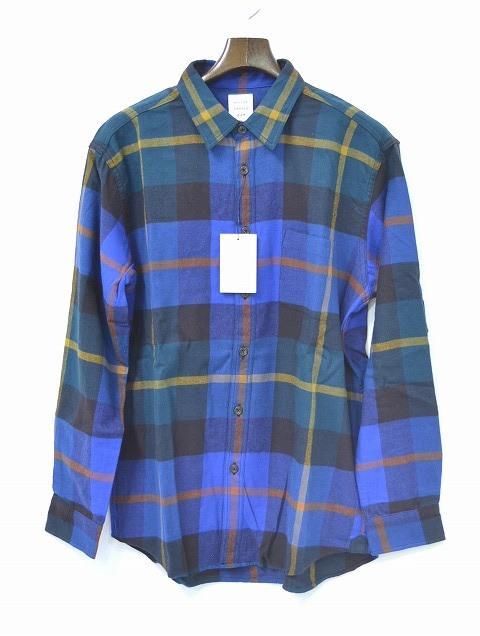【新品】 Mr.GENTLEMAN (ミスタージェントルマン) FLANNEL CHECK SHIRTS フランネルチェックシャツ MG15F-SH01 長袖シャツ BIG CHECK GREEN ベーシック XL