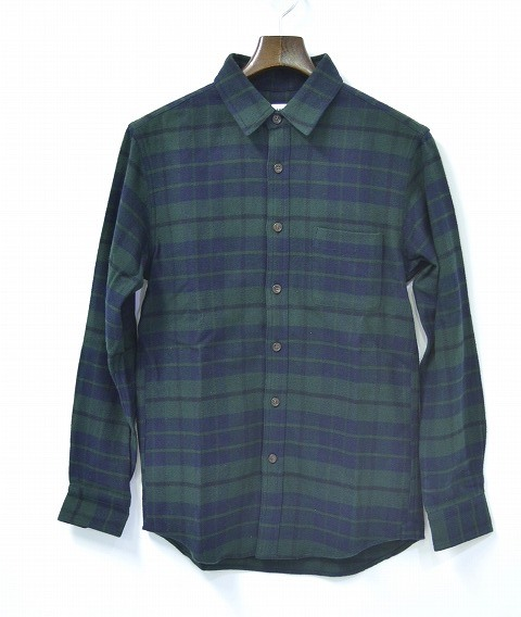 【新品】 Mr.GENTLEMAN (ミスタージェントルマン) FLANNEL CHECK L/S SHIRTS フランネルチェックシャツ L 長袖シャツ BLACK WATCH 15S-SH22