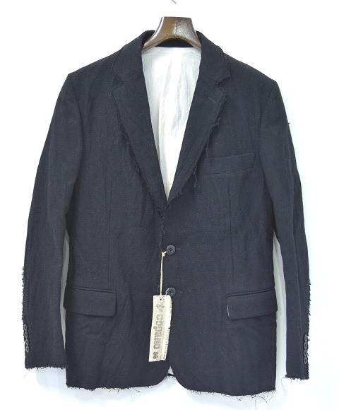 【新品】 COPANO86 (コパノ ハチジュウロク)Cutting Edge Tailored Jacket カッティングエッジテーラードジャケット 2つボタン BLACK 48