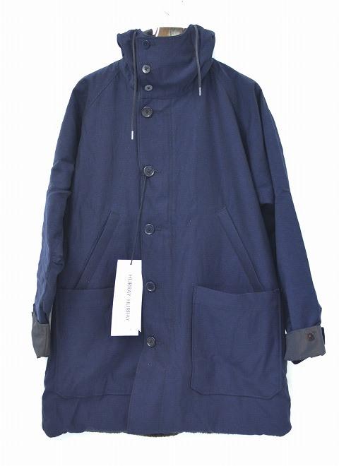 【新品】HURRAY HURRAY (フレイフレイ)Reversible Hooded Coat NAVY 0 リバーシブルフーデッドコート フード  モッズコート