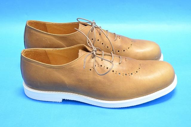 【新品同様】 ARCOLLETTA PADRONE(アルコレッタパドローネ) BALMORAL SHOES/ BYRON バルモラルシューズ レザーシューズ 革靴 CAMEL 42 MADE IN JAPAN 【中古】