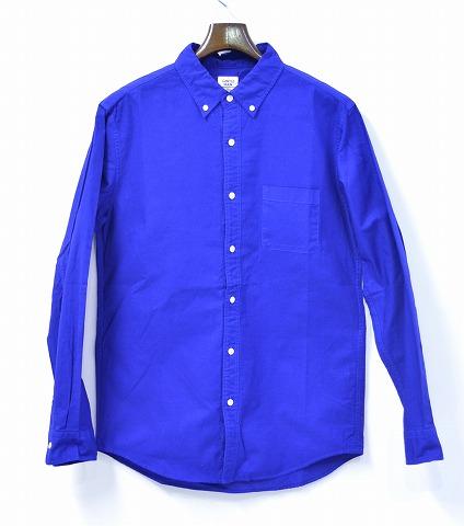 【新品】 Mr.GENTLEMAN (ミスタージェントルマン) COLOR OX B.D L/S SHIRTS カラーオックスフォードボタンダウンシャツ L ROYAL BLUE 15SS 長袖シャツ MG15S-SH04