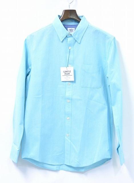 【新品】Mr. GENTLEMAN (ミスタージェントルマン) PASTEL OX L/S SHIRTS パルテルカラー オックスフォード 長袖シャツ ボタンダウン 14SS SEA BLUE M シーブルー B.D BUTTON DOWN