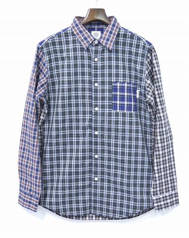 【新品】 Mr.GENTLEMAN (ミスタージェントルマン) MULTI-CHECK L/S SHIRTS LMG14S-SH21 マルチチェック長袖シャツ B.D SHIRT ボタンダウンシャツ ギンガム MIX L
