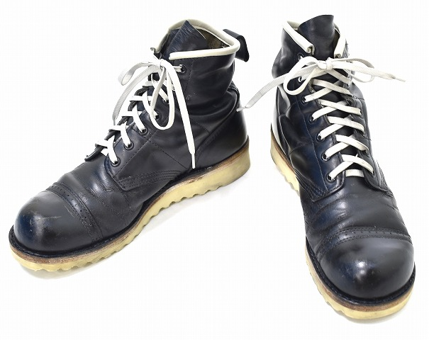 IRREGULAR by ZIP STEVENSONイレギュラー バイ ジップスティーブンソン Custom Jump Boots Lightning カスタムジャンプブーツ 黒 イナズマスタッズ 8 5 編み上げ リメイクkiuPXOZT