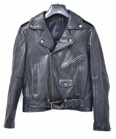 【美中古】 THE CAST (ザ キャスト)Motorcycle Jacket RIDERS LEATHER JACKET モーターサイクルジャケット ライダースレザージャケット NEWYORK BLACK S MADE IN USA 【中古】