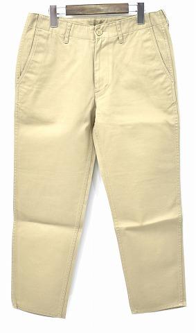 【新品】 Mr.GENTLEMAN (ミスタージェントルマン) BASIC CHINO PANTS ベーシックチノパンツ S BEIGE MG-TR01 MISTERGENTLEMAN CHINO TROUSERS チノトラウザース チノパン MADE IN JAPAN クロップド
