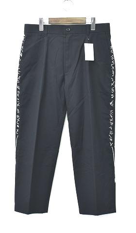 【新品】 DISCOVERED (ディスカバード) I stitch pants アイステッチパンツ スラックス トラウザーズ BLACK 2 クロップド ハンパ丈