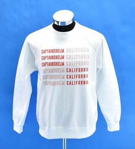 【新品】 CAPTAINS HELM(キャプテンズヘルム) #CH/CA TEC SWEAT クルーネック スウェット トレーナー WHITE S MADE IN JAPAN