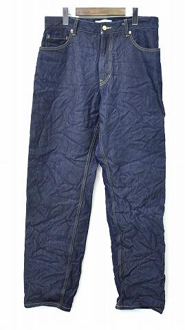 【新品同様】 FACETASM (ファセッタズム) The Woolmark Company WRINKLED 5-POCKET WOOL DENIM JEANS リンクル 5ポケット ウール ジーンズ DENIM PANTS デニムパンツ BLUE 3 MADE IN JAPAN