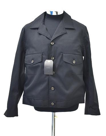 【新品】 bukht (ブフト) GABARDINE JACKET HIGH DENSITY POLYESTER WOOL FAB ギャバジンジャケット ブルゾン デンシティー BV-65502 BLACK 3(L) MADE IN JAPAN